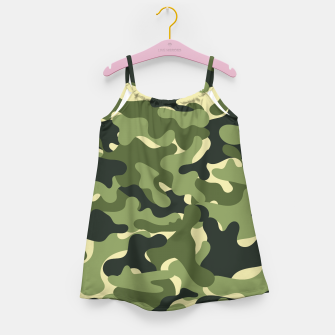 Thumbnail image of Green Camouflage Girl's dress, Live Heroes