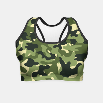 Thumbnail image of Green Camouflage Crop Top, Live Heroes