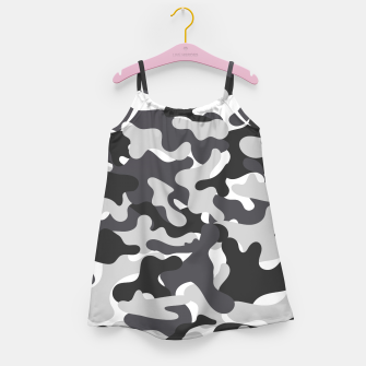 Thumbnail image of Black & White Camouflage Girl's dress, Live Heroes
