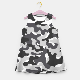 Thumbnail image of Black & White Camouflage Girl's summer dress, Live Heroes