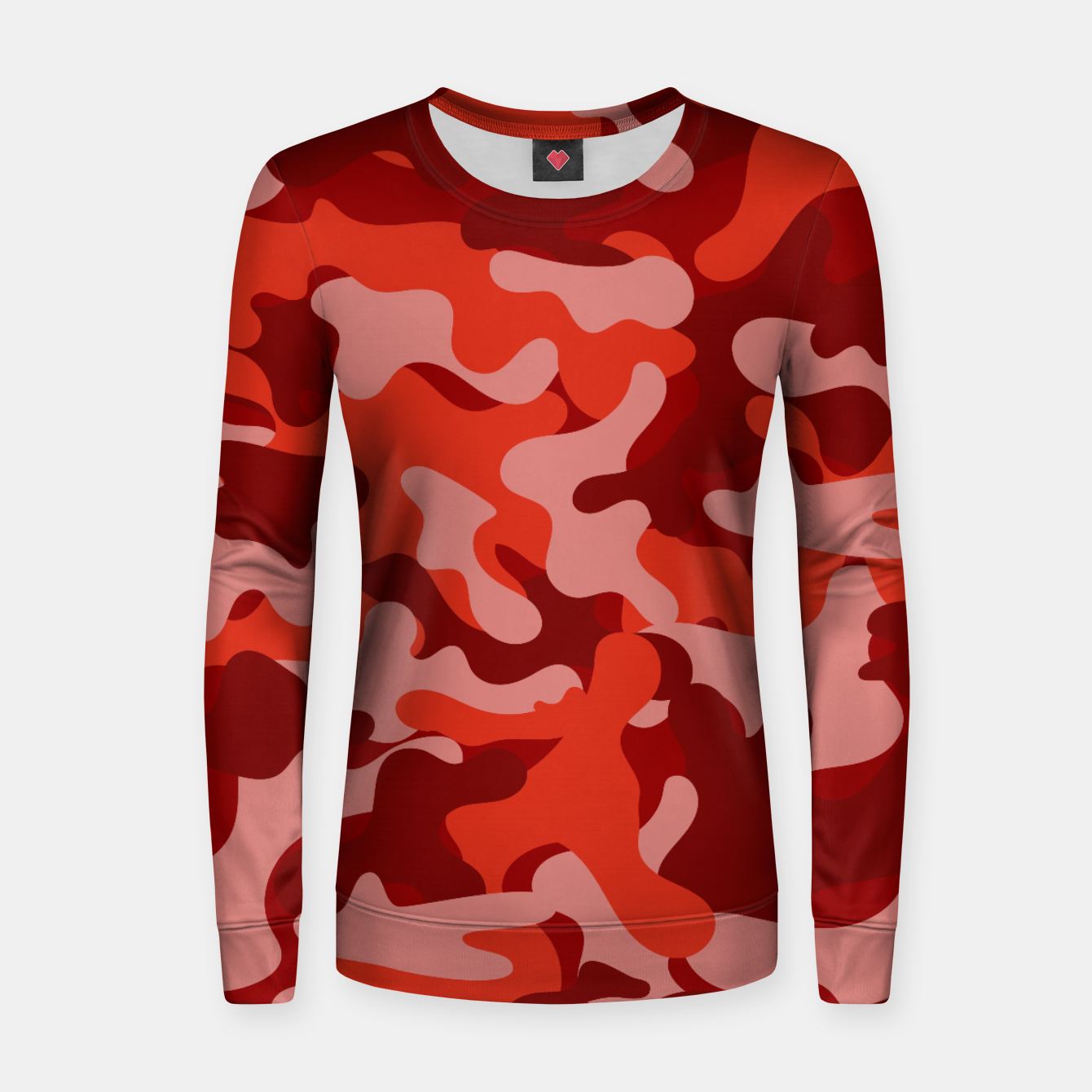Image of Red Camouflage Women sweater - Live Heroes