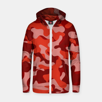 Red Camouflage Zip up hoodie thumbnail image