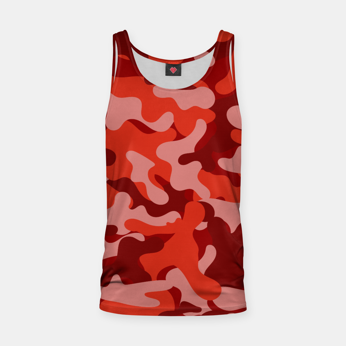 Image of Red Camouflage Tank Top - Live Heroes