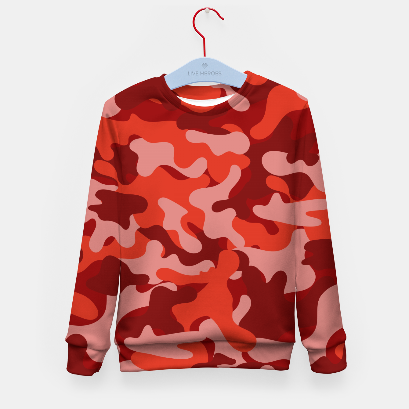 Image of Red Camouflage Kid's sweater - Live Heroes