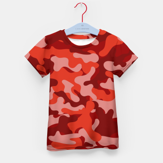 Red Camouflage Kid's t-shirt thumbnail image