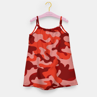 Red Camouflage Girl's dress thumbnail image