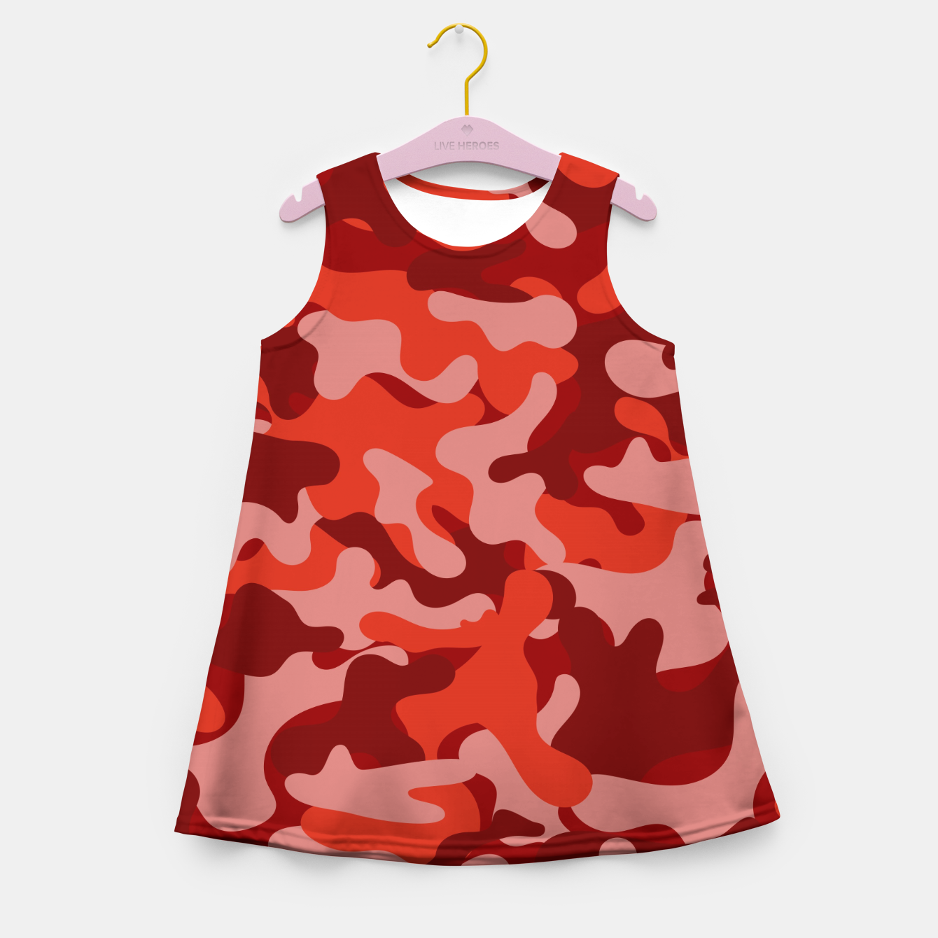 Image of Red Camouflage Girl's summer dress - Live Heroes
