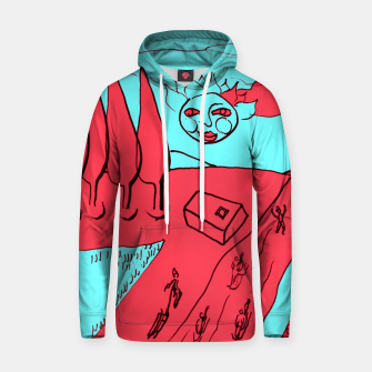 Miniature de image de Sled Hill on Piliscsev at Winter - red and light blue Hoodie, Live Heroes