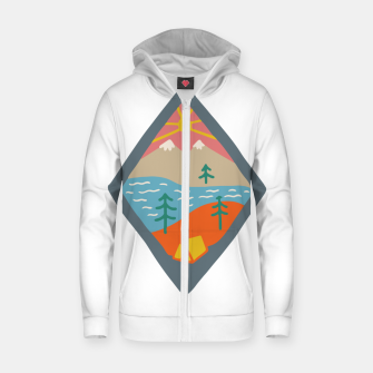 Miniaturka Beautiful Place for Camp Zip up hoodie, Live Heroes