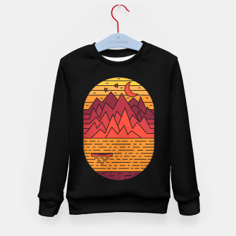 Thumbnail image of Lake and Mountain Kid's sweater, Live Heroes