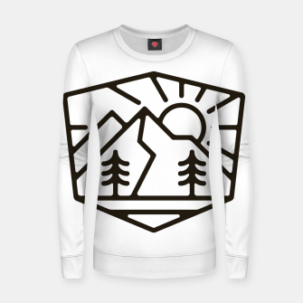 Thumbnail image of Sunrise and Mountain for light Women sweater, Live Heroes