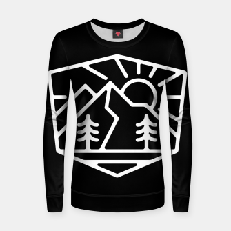 Thumbnail image of Sunrise and Mountain for dark Women sweater, Live Heroes