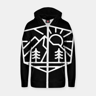 Thumbnail image of Sunrise and Mountain for dark Zip up hoodie, Live Heroes