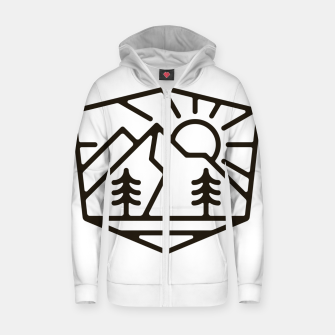 Thumbnail image of Sunrise and Mountain for light Zip up hoodie, Live Heroes