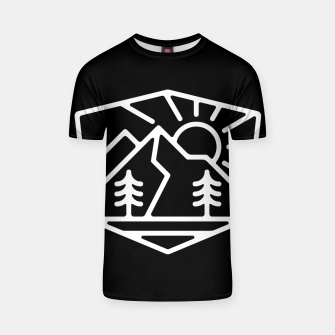 Thumbnail image of Sunrise and Mountain for dark T-shirt, Live Heroes