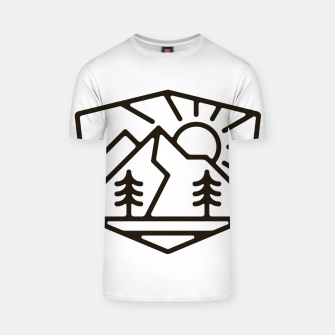 Thumbnail image of Sunrise and Mountain for light T-shirt, Live Heroes