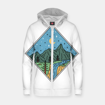 Thumbnail image of Beautiful Place Zip up hoodie, Live Heroes