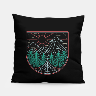 Thumbnail image of Great Place for Camping Pillow, Live Heroes