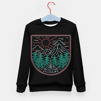 Thumbnail image of Great Place for Camping Kid's sweater, Live Heroes