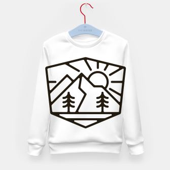 Thumbnail image of Sunrise and Mountain for light Kid's sweater, Live Heroes