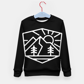 Thumbnail image of Sunrise and Mountain for dark Kid's sweater, Live Heroes