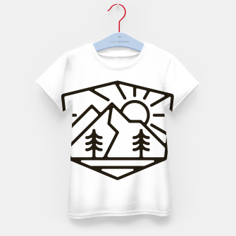 Thumbnail image of Sunrise and Mountain for light Kid's t-shirt, Live Heroes