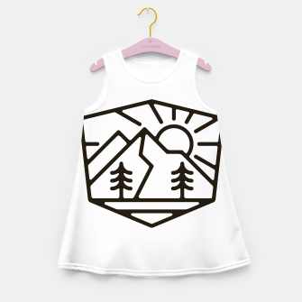 Thumbnail image of Sunrise and Mountain for light Girl's summer dress, Live Heroes
