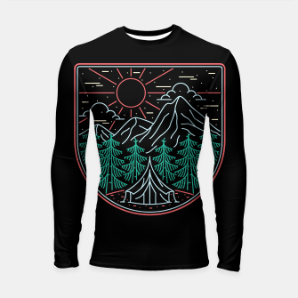 Thumbnail image of Great Place for Camping Longsleeve rashguard , Live Heroes