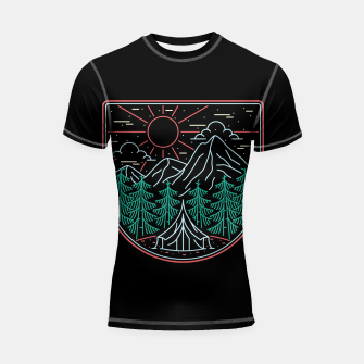Thumbnail image of Great Place for Camping Shortsleeve rashguard, Live Heroes