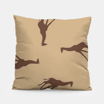 Thumbnail image of Giraffe brown silhouette pattern Pillow, Live Heroes