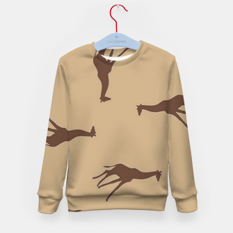 Thumbnail image of Giraffe brown silhouette pattern Kid's sweater, Live Heroes