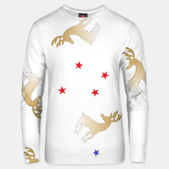 Thumbnail image of Reindeer and stars Unisex sweater, Live Heroes