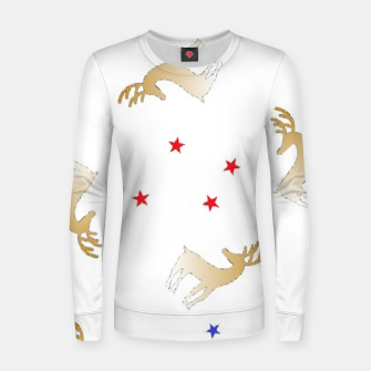 Thumbnail image of Reindeer and stars Women sweater, Live Heroes