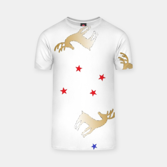Thumbnail image of Reindeer and stars T-shirt, Live Heroes