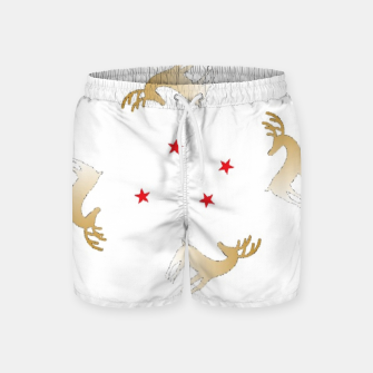 Thumbnail image of Reindeer and stars Swim Shorts, Live Heroes