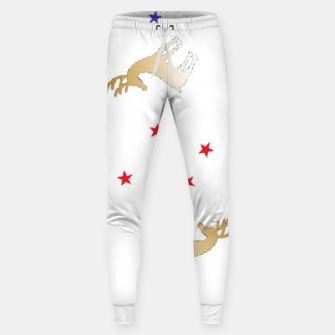 Thumbnail image of Reindeer and stars Sweatpants, Live Heroes