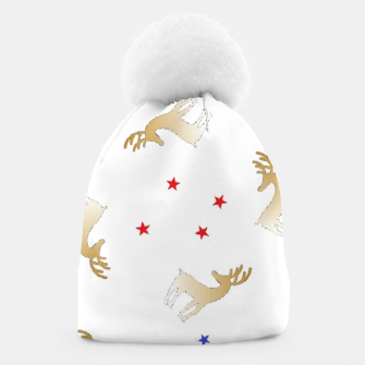 Thumbnail image of Reindeer and stars Beanie, Live Heroes