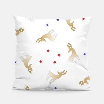 Thumbnail image of Reindeer and stars Pillow, Live Heroes