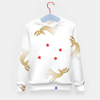 Thumbnail image of Reindeer and stars Kid's sweater, Live Heroes