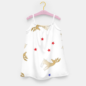 Thumbnail image of Reindeer and stars Girl's dress, Live Heroes