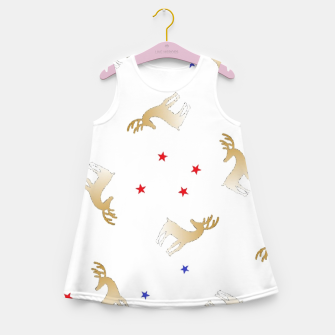 Thumbnail image of Reindeer and stars Girl's summer dress, Live Heroes