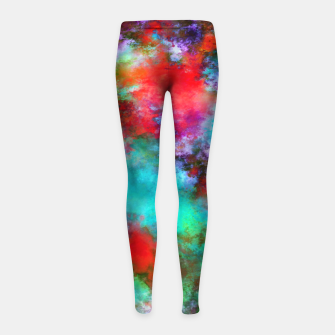 Thumbnail image of Bright ghosts Girl's leggings, Live Heroes