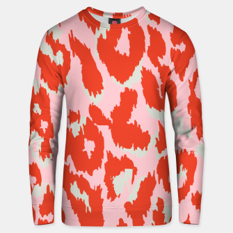 Thumbnail image of Cheetah Print in Hot Pink and Red  Unisex sweater, Live Heroes