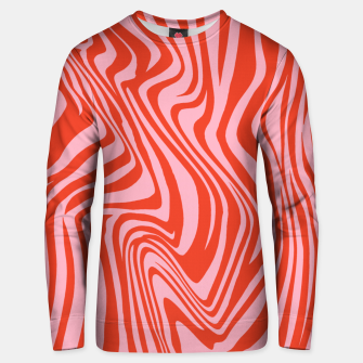 Thumbnail image of Swirl Lines Pattern in Red and Hot Pink Unisex sweater, Live Heroes