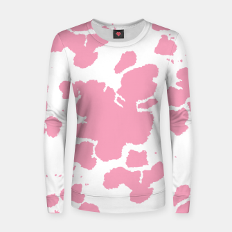 Thumbnail image of Pink Cowhide Spots Women sweater, Live Heroes