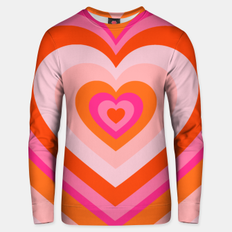 Thumbnail image of hypnotic retro hearts pattern Unisex sweater, Live Heroes