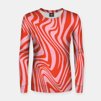 Thumbnail image of Swirl Lines Pattern in Red and Hot Pink Women sweater, Live Heroes