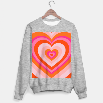 Thumbnail image of hypnotic retro hearts pattern Sweater regular, Live Heroes