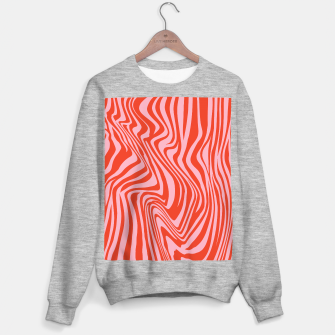 Thumbnail image of Swirl Lines Pattern in Red and Hot Pink Sweater regular, Live Heroes