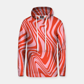 Thumbnail image of Swirl Lines Pattern in Red and Hot Pink Hoodie, Live Heroes